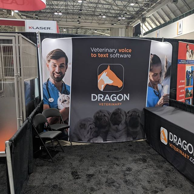 We're excited to be back at the #fetchdvm360 conference. Stop by booth 538 and get a demo of our #speechrecognition software. #dragonveterinary #veterinarian #vettech