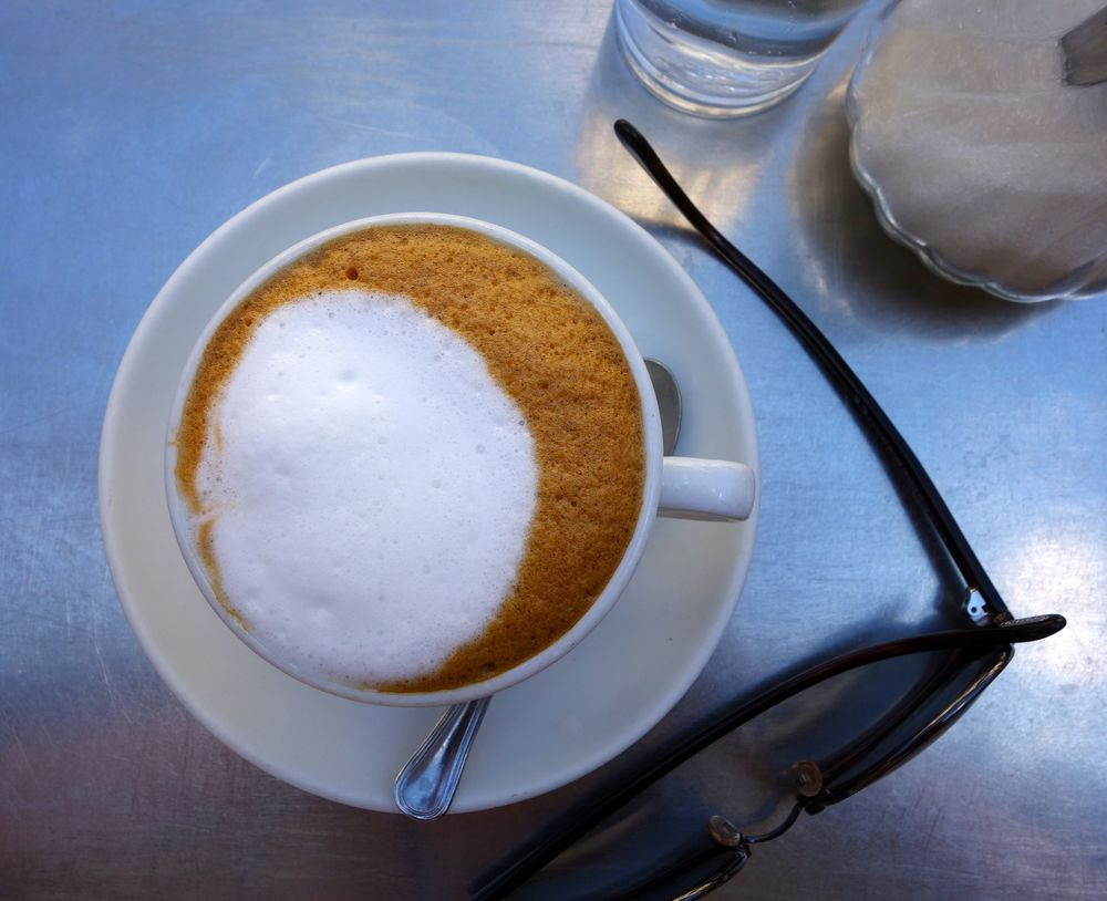 My cappuccino at Caffe Sant'Eustachio in Rome.
