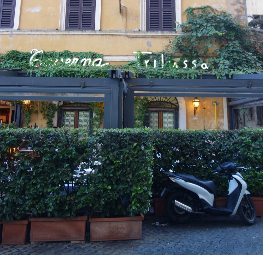 The pasta at  Taverna Trilussa  is some of the best in Rome, and it comes to your table served in the pan!
