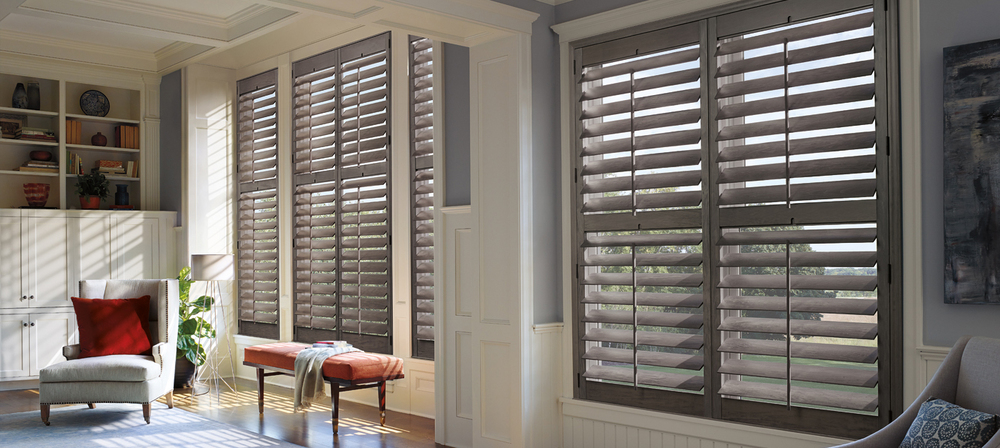 HERITANCE HARDWOOD WINDOW SHUTTERS    These custom crafted hardwood window shutters offer a timeless style that adorns any room with class and elegance. Choose from an elegant palette of classic color options to suit any home or business, and enjoy the minimal amount of maintenance it takes to keep them looking great. Click on the image above for more product details.