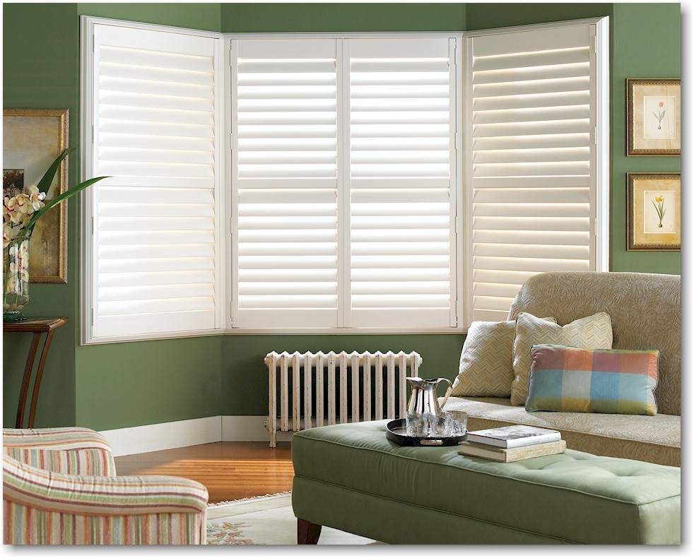 PALM BEACH WINDOW SHUTTERS    Looking for that modern, bright and beachy look? These Hunter Douglas Palm Beach Window Shutters may be the perfect fit! Made with an outdoor-grade polysatin compound, these shutters are both durable, functional and completely customizable, with a plethora of calm, cool colors to choose from. Click on the photo for more information.