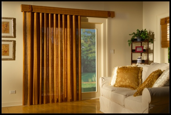WOVEN WOOD VERTICAL SHADES   Woven Wood Vertical Shades offer a one-of-a-kind window blind made from bamboo and teak. If you are looking for something that is modern, natural, and beautiful, this is the window shade for you. Click on the photo above to learn more.