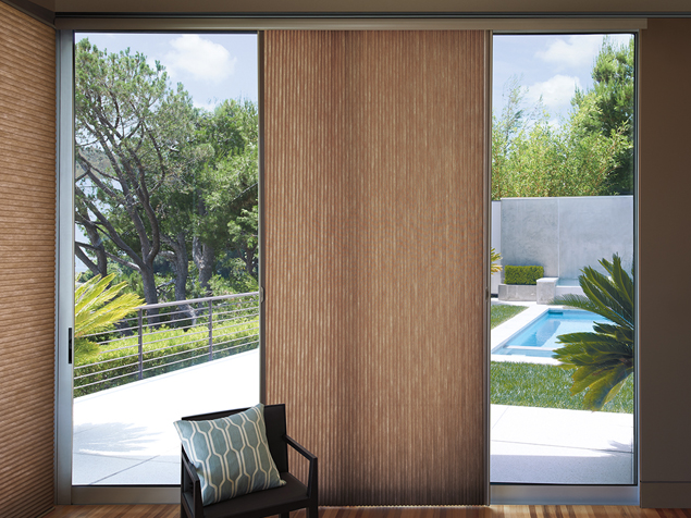 DUETTE VERTICAL SHADES   The Duette window blinds are offered in a variety of different fabrics and colors. You can create the space you desire with these unique and stylish shades. Click on the photo above to learn more.