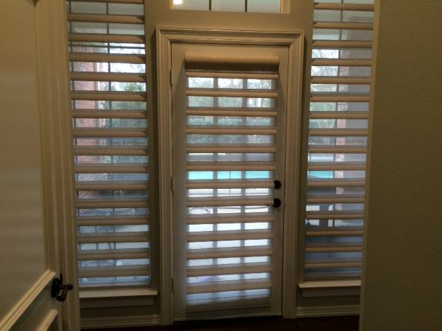 PIROUETTE SHADINGS ON PATIO DOOR