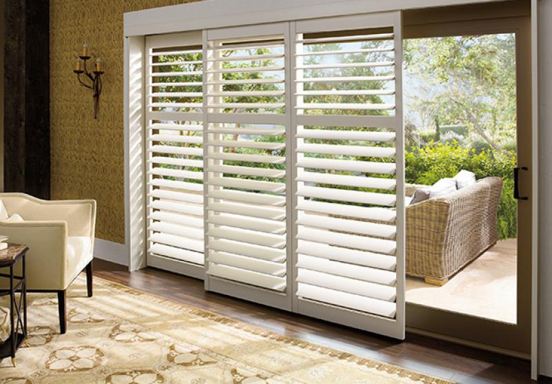 SHUTTER FOR SLIDING GLASS DOOR
