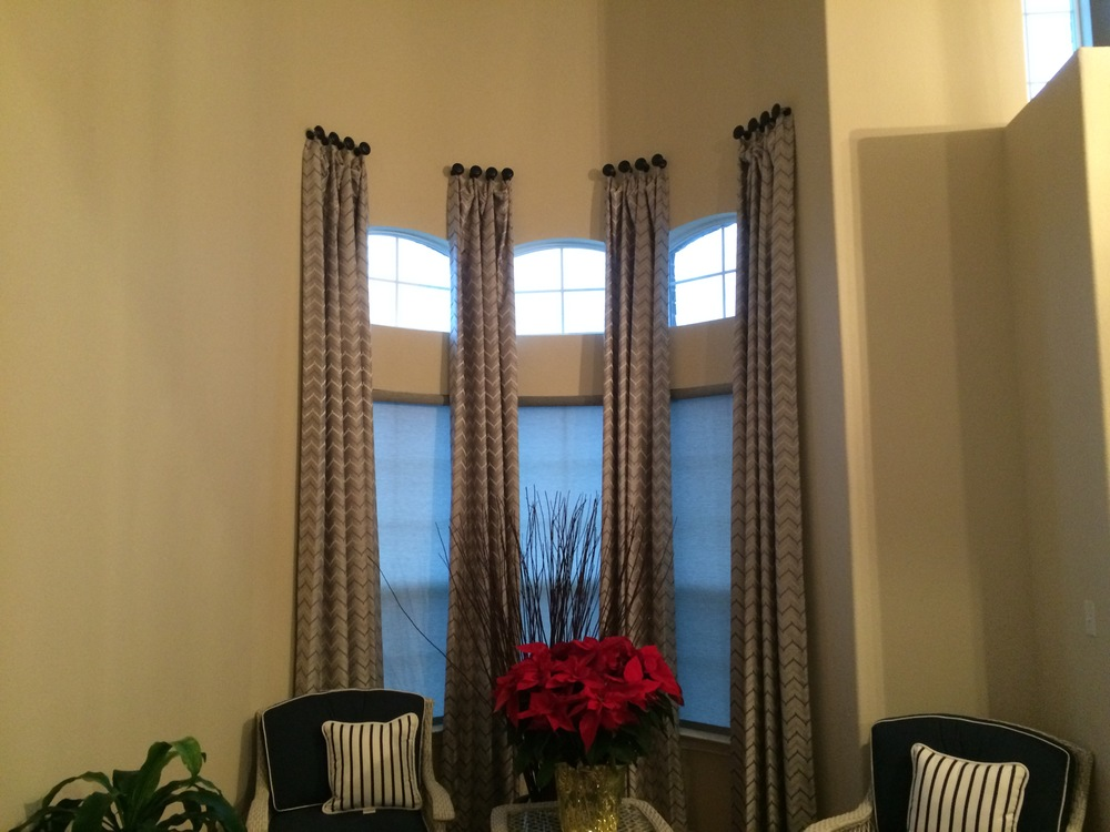 CUSTOM DRAPERY PANELS IN PLANO, TX