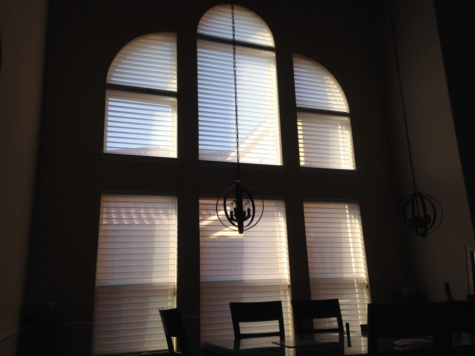 SILHOUETTE SHADES WITH FULL ARCH AND QUARTER ARCH IN PLANO, TX