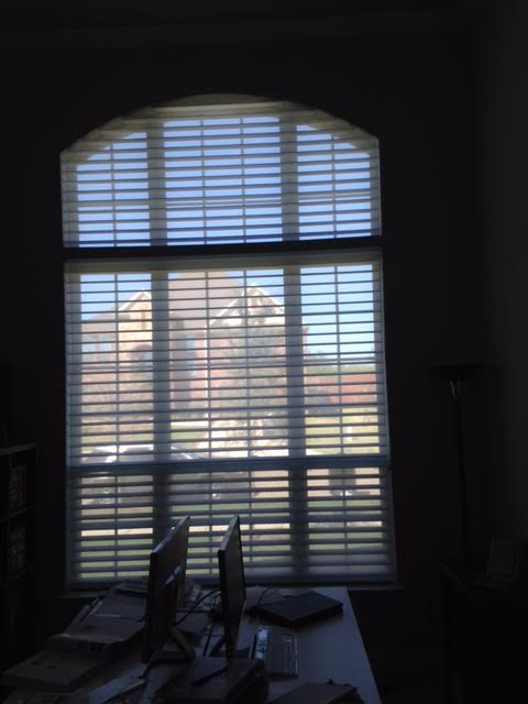 SILHOUETTE SHADES WITH ARCH TOP IN THE COLONY, TX