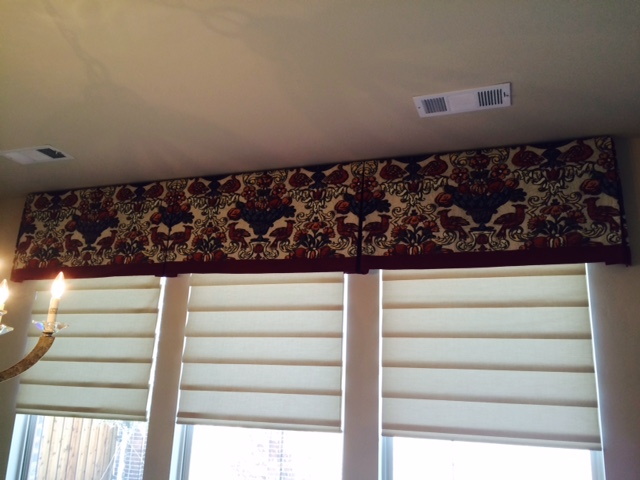 red valance window treatments