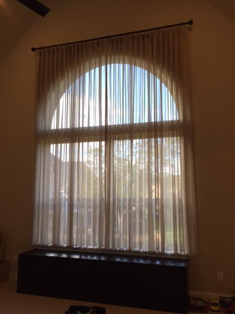 CUSTOM SHEER DRAPERY IN COPPELL, TX