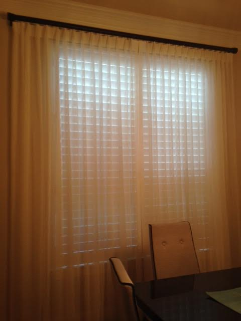 tan sheer window treatments
