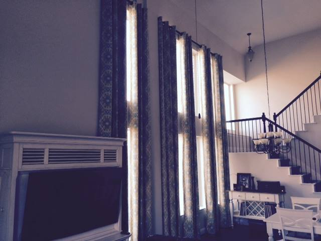 dark patterned window treatments