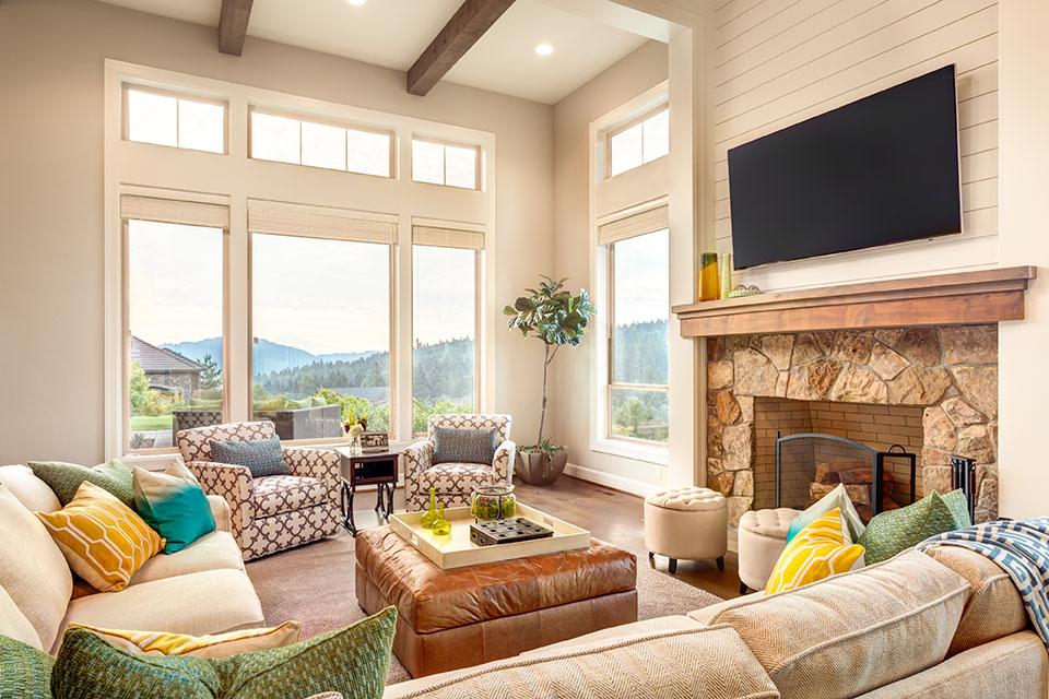 spring interior design in modern home