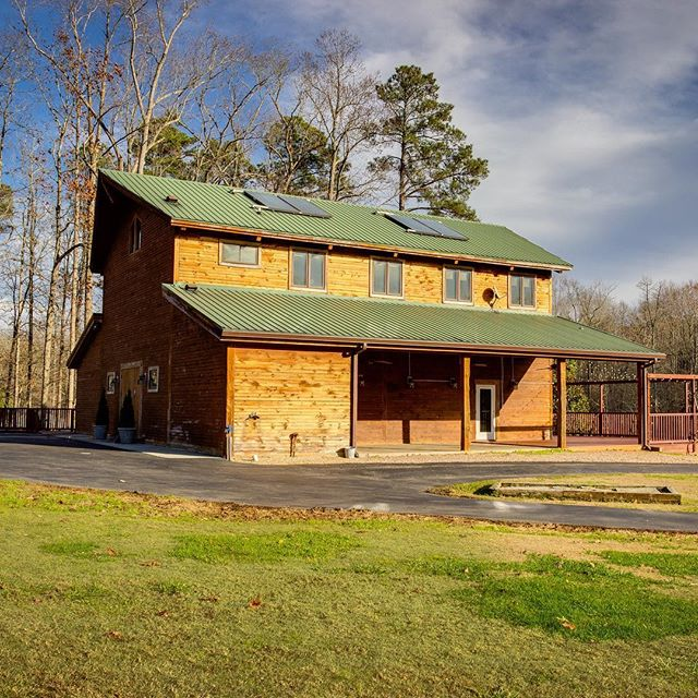 Cool wedding venues in North Carolina. You can see your everything from the barn to the outdoor fireplace to the incredible master suite all on @googlemaps @barnatvalhalla