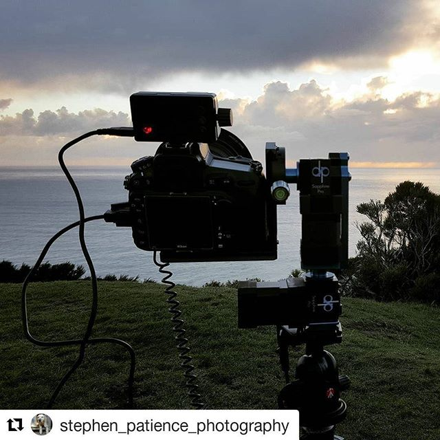 With a timelapse talisman the clouds part for Sapphire Pro and the VIEW. BTS shot by @stephen_patience_photography ・・・ #timelapse #motioncontrol #dynamicperception #getoutandshoot #naturescape