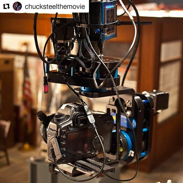 "@chucksteelthemovie with a small army of  #dynamicperception MoCo rigs at Animortal - ""they always get the job done"" #motioncontrol #stopmotion #animation #movies #dynamicperception"