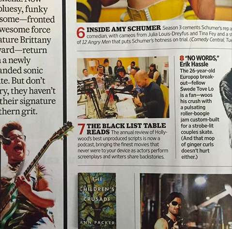 Serving fat-armed sullen realness on  Entertainment Weekly's Must List  for  The Black List Table Reads.