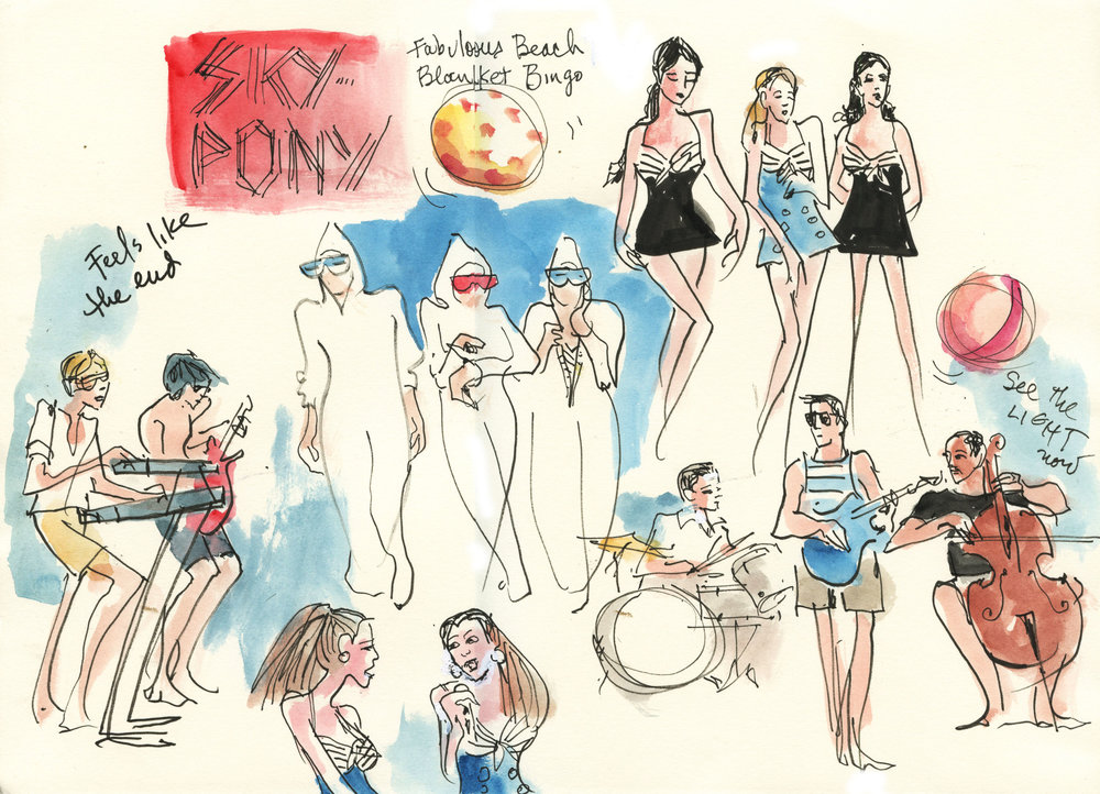 Sketch of Sky-Pony Live at Joe's Pub By Joan Chiverton
