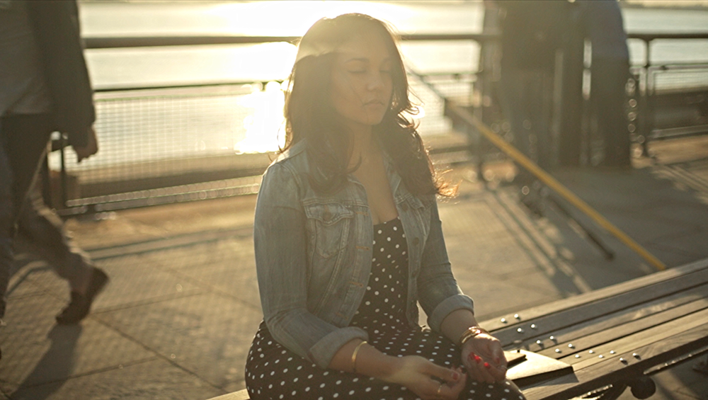 From the b-roll for Dream, Girl shot by the amazing Mary Perrino. Yes, that's me meditating on a boardwalk!