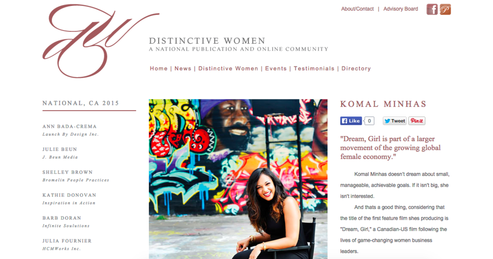 Komal Minhas in Distinctive Women Magazine