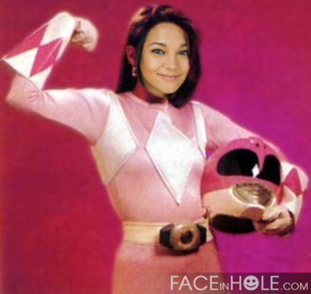 You can't be what you can't see! ;-), thanks to Maggie for making this on my birthday, I do have that pink Power Ranger love for real and a desire to feel awesome once again.