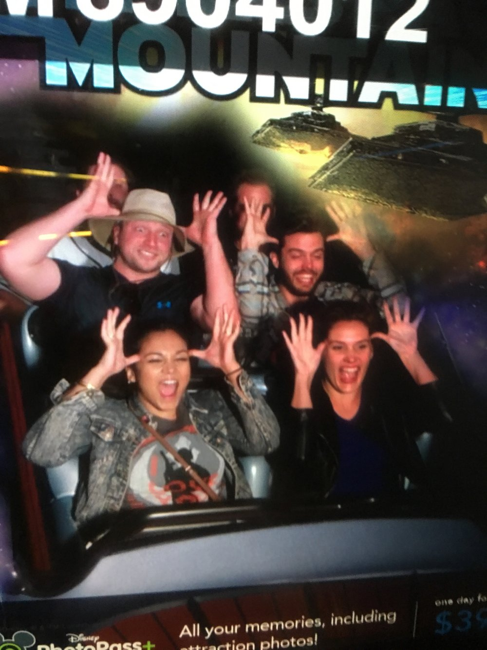 Our third time on Space Mountain!