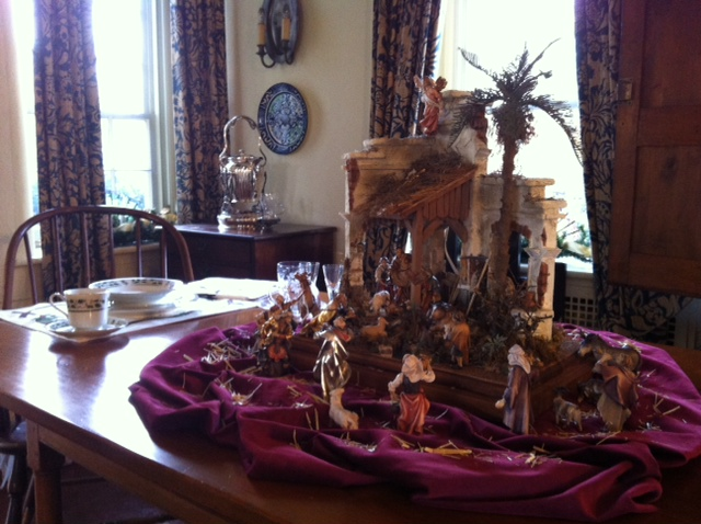 Navidad Nativities featured as a centerpiece at the Holiday Celebration at the estate of Nobel and Pullitzer prize-winning author Pearl S. Buck.