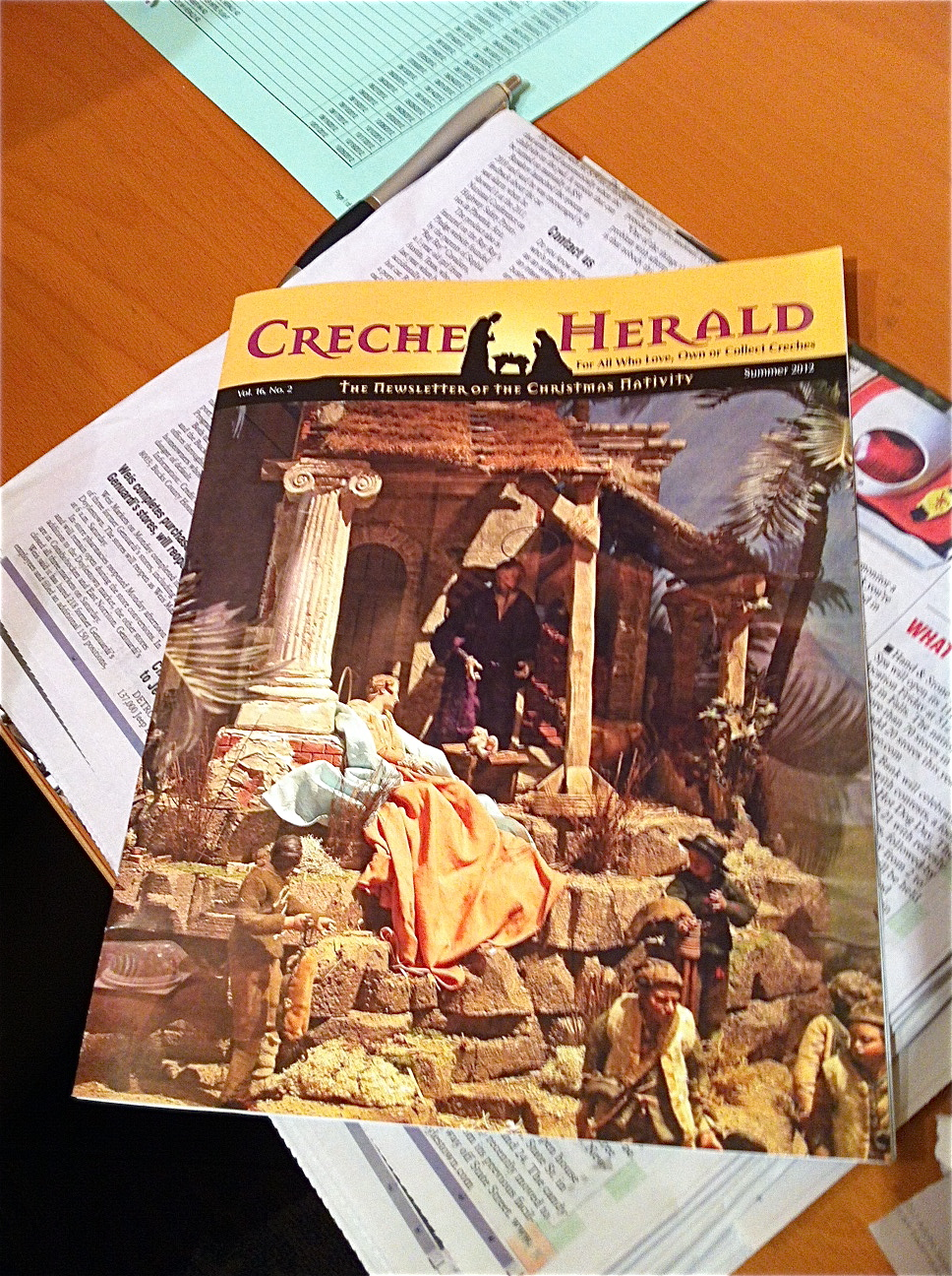 Navidad Nativity's 17th century presepi featured on the cover of The Creche Herald.