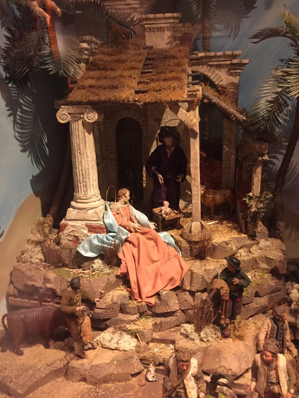 NATIVITY SETTING FOR 17TH CENTURY PRESEPI FIGURES CREATED BY NAVIDAD NATIVITIES IN 2005.