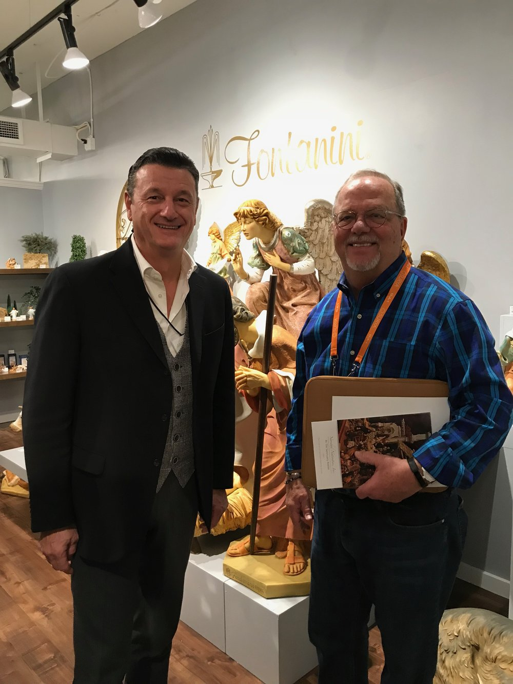 Michael meeting with Emmanuel Fontanini