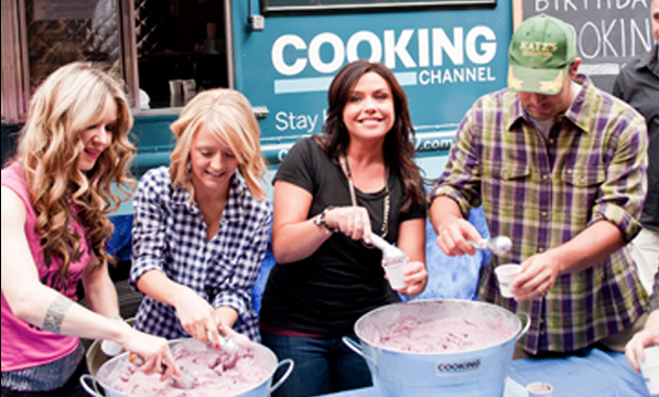 Cooking Channel stars Nadia G, Kelsey Nixon, Rachael Ray and Ben Sargent at an event in New York City.