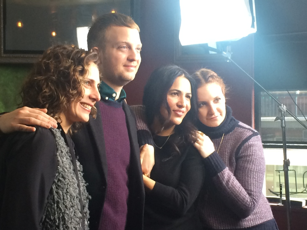 'It's Me Hilary, The Man Who Drew Eloise' producer Stacey Keiss, director Matt Wolf, and executive producers Jennifer Konner and Lena Dunham at the 2015 Sundance Film Festival premiere of their HBO Documentary.