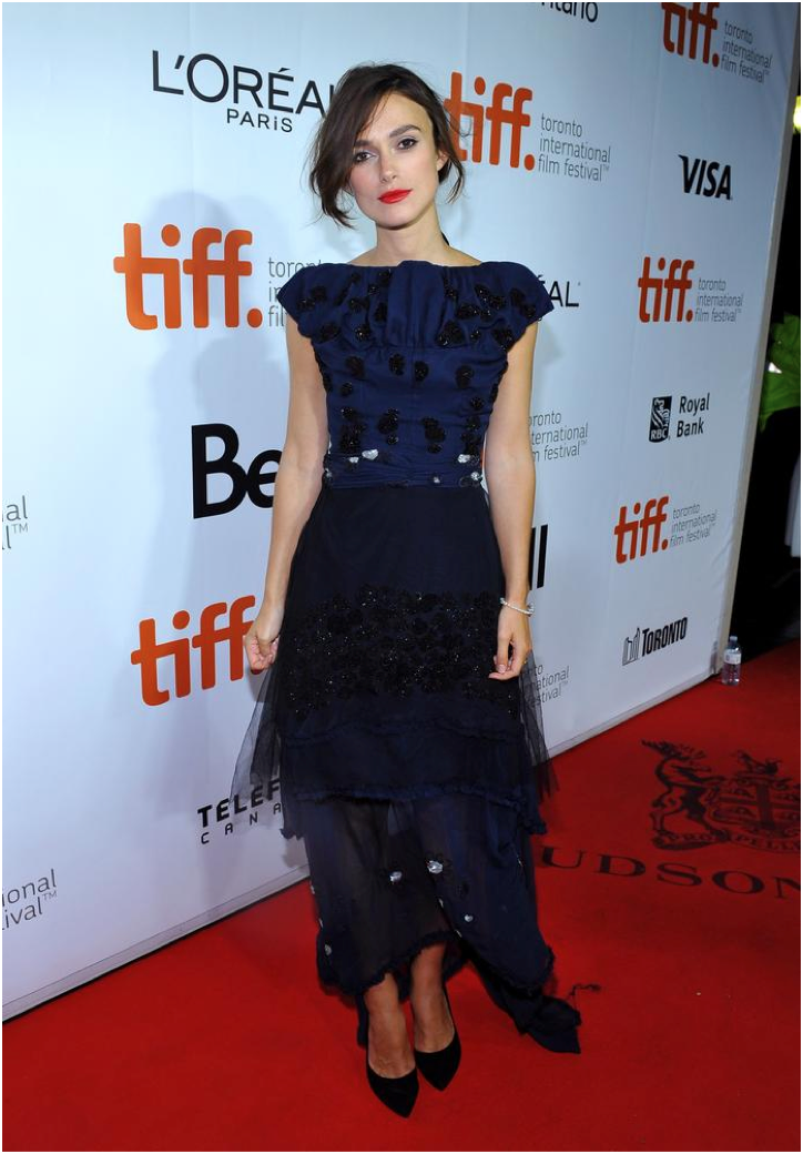 Keira Knightley attends the 2014 Toronto International Film Festival for her film 'Laggies.'