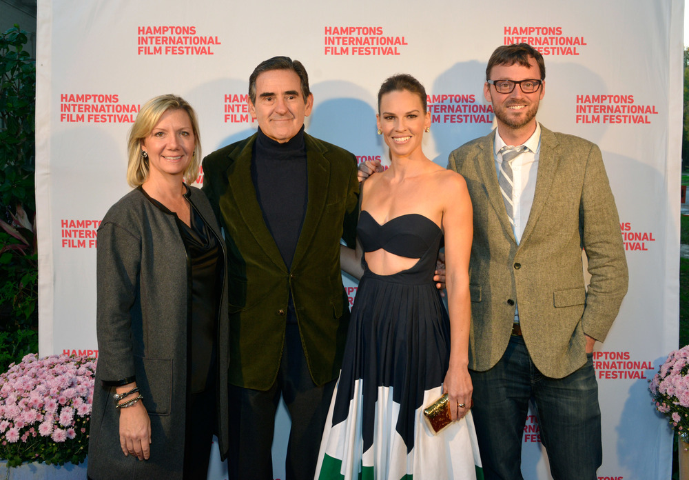 Anne Chaisson, Peter Brent, Hilary Swank and David Nugent attend the 2014 Hamptons International Film Festival.