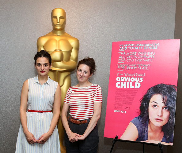 Actress Jenny Slate and Director Gillian Robespierre attend the official Academy of Motion Picture Arts and Sciences screening of 'Obvious Child'
