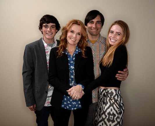 'Ping Pong Summer' director Michael Tully with actors Marcello Conte, Lea Thompson and Emmi Shockley at the 2014 Sundance Film Festival.