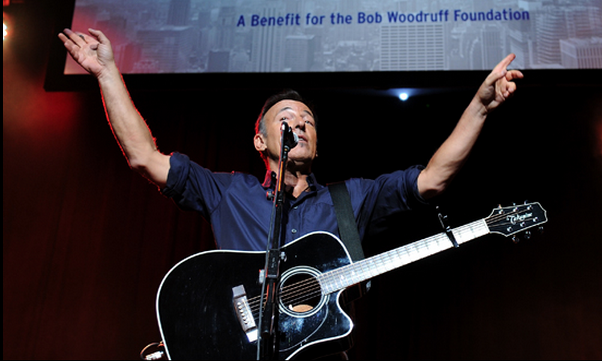 Bruce Springsteen at The New York Comedy Festival's Stand Up For Heroes event.