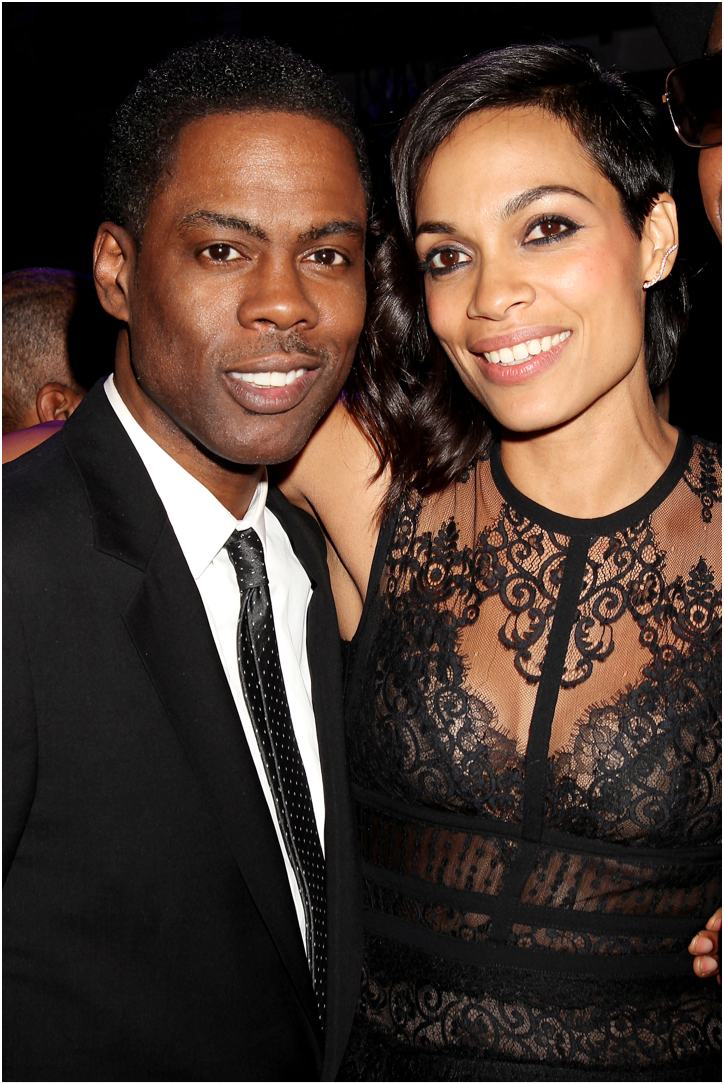 Chris Rock and Rosario Dawson attend the New York City Premiere of 'Top Five.'