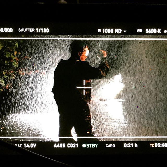 When you need to recreate a flood in Louisiana, but all you have is a farm in Maryland. Director Brandon Bray, DP @nathangolon, @goodfightmedia great work you guys! @arri #alexamini #setlife #filmmaking #bts #flood #rescue