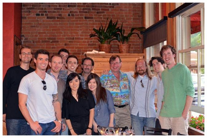 Steven Stucky (Center-left), Stephen Hartke (Center-right), and the Aspen Gang.