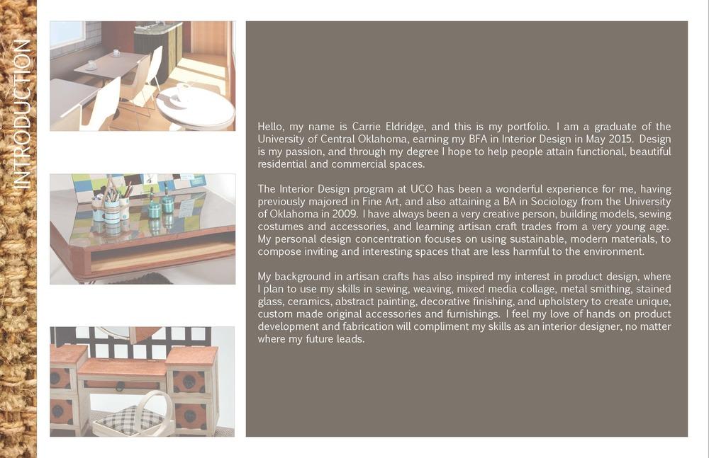 Portfolio Carrie Eldridge Design
