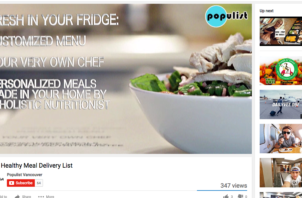 Populist media (video) - #1 on Healthy meal services
