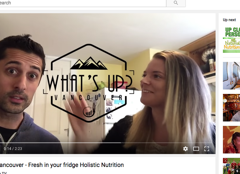 UpMedia (video) - Fresh in your fridge Holistic Nutrition