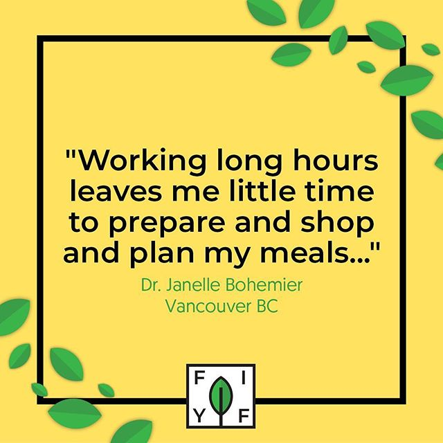 """Working long hours leaves me little time to prepare and shop and plan my meals. I'd end up stopping at the corner store famished, or getting take out most lunches and dinners. Since having Emily prepare my meals, I not only look forward to coming home after a work day but my health is better for it as well.""⠀ - Dr. Janelle Bohemier ⠀ ⠀"