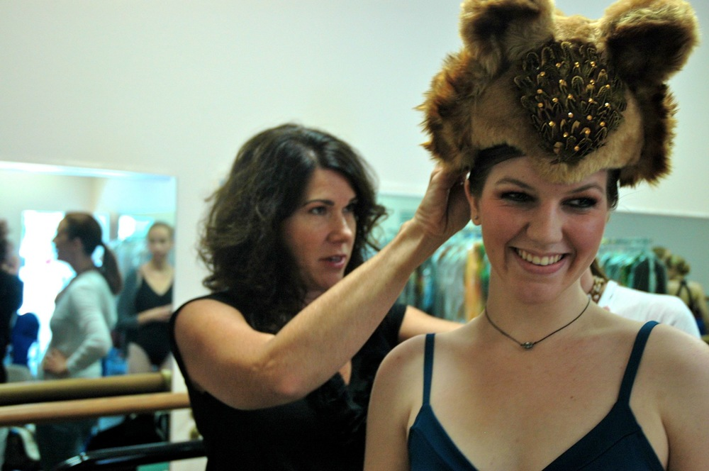 Lisa fitting headpiece.jpg