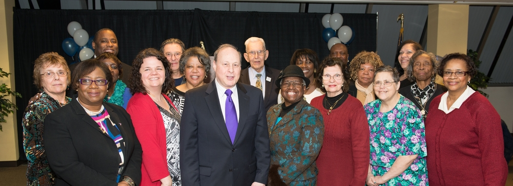 Members of MSAC's Springfield Chapter join Massachusetts Senate President Stan Rosenberg (pictured center)