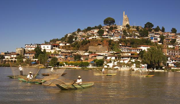 La isla de Janitzio, en Pátzcuaro.