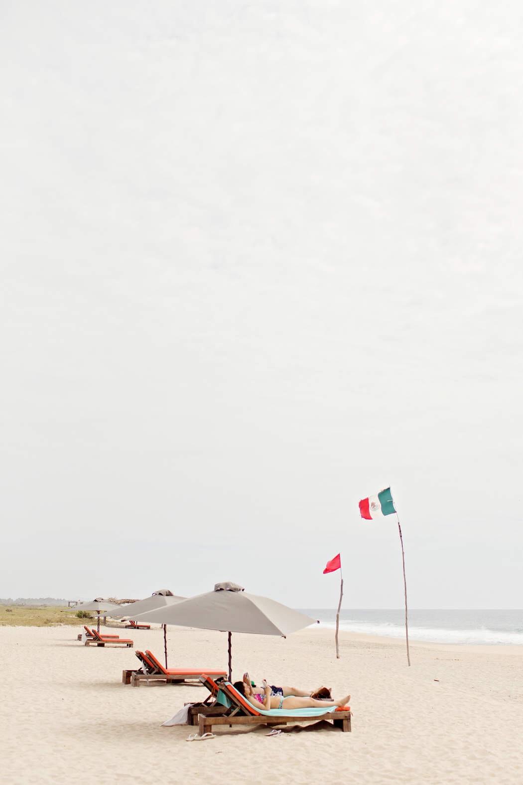 Playa en el Hotel Escondido, Oaxaca Foto: Danielle Villasana