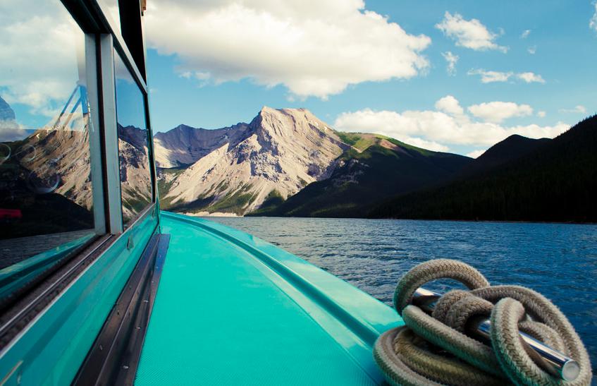 Lago Minnewanka en el Parque Nacional Banff, Alberta, Canadá. Foto: Sharon Delgadillo