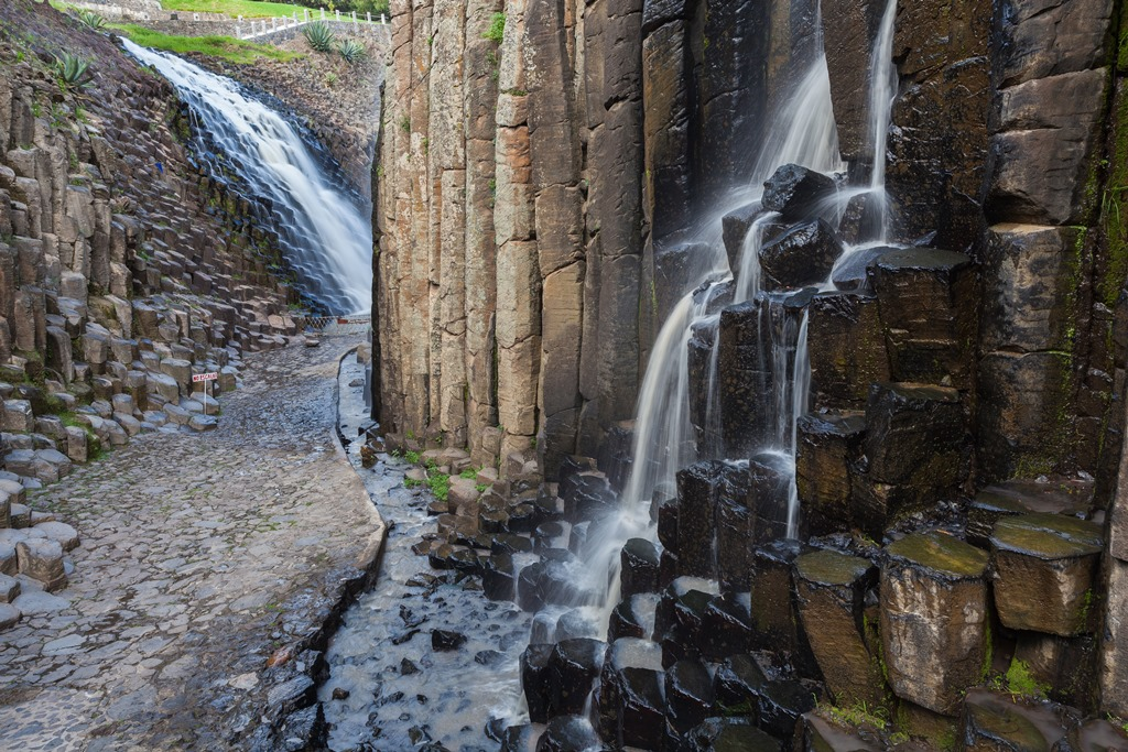 Prismas basálticos en Huasca de Ocampo